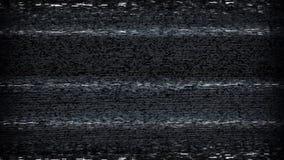 Sintonizzazione di elettricità statica della TV stock footage