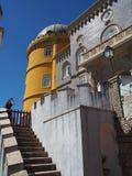 sintra的葡萄牙贝纳宫殿 免版税库存照片