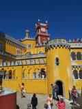 sintra的葡萄牙贝纳宫殿 库存照片