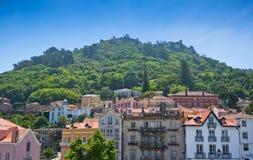 Sintra,葡萄牙。 全视图 免版税图库摄影