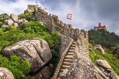 Sintra, замки Португалии стоковое фото