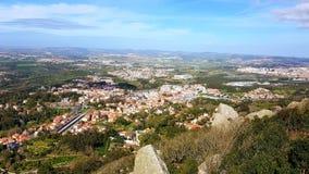 Sintra, замок Sintra и природа Стоковое Изображение RF