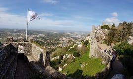 Sintra, замок Sintra и природа Стоковые Фото