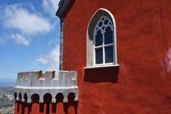 Sintra, Португалия на дворце соотечественника Pena деталь стоковая фотография rf