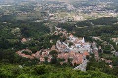 Sintra, Ansicht über alte Stadt Stockfotografie