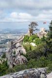 Sintra, castello di Moriscos Fotografie Stock