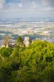 Sintra, castello di Moriscos Fotografia Stock