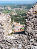 Sintra from the Castle of the Moors Royalty Free Stock Photos