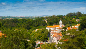 Sintra cityscape wide Royalty Free Stock Photo
