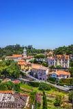Sintra i Portugal: Historiska hus Royaltyfri Foto