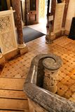 Polished stone stairway in the Palace of Monserrate royalty free stock photos