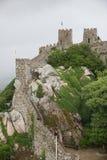 Sintra, Moorish Castle. Old walls of Moorish Castle in the city of Sintra, Portugal Stock Photo