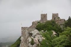 Sintra, Moorish Castle. Old walls of Moorish castle from Sintra,Portugal Royalty Free Stock Photography