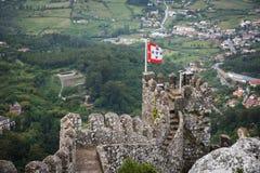 Sintra, Moorish Castle. Old walls of Moorish castle from Sintra,Portugal Stock Images