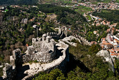 Sintra - the Moors fortress Royalty Free Stock Images