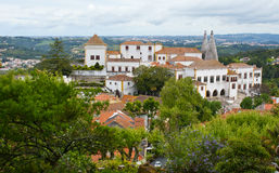 The medieval palace of Sintra Royalty Free Stock Photos