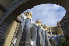 Sintra palace Stock Images