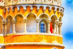 Sintra, point de repère du Portugal, palais de Pena Photo stock
