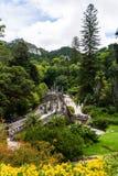 Sintra, Portogallo - giugno 2017 Quinta da Regaleira è un sito del patrimonio mondiale dall'Unesco all'interno del paesaggio cult fotografie stock