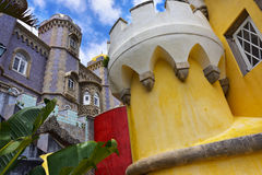 Sintra, Portogallo, palazzo del cittadino di Pena Immagine Stock