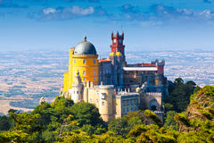 Sintra, Portugal. Pena National Palace in Sintra, Portugal (Palácio Nacional da Pena Stock Photos