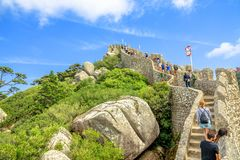 Sintra Castle tourists Royalty Free Stock Photos