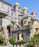 SINTRA, PORTUGAL - August 17, 2012: The Pena National Palace Stock Photos