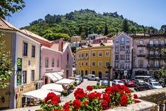 Sintra, Portugal: Casas históricas na cidade famosa Sintra Imagens de Stock Royalty Free
