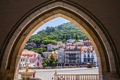 Sintra, Portugal: Casas históricas na cidade famosa Sintra Foto de Stock Royalty Free