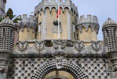 Sintra, Portugal - 2 de julio de 2010: El palacio del nacional de Pena Foto de archivo libre de regalías