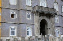 Sintra, Portugal - 2 de julio de 2010: El palacio del nacional de Pena Imagen de archivo