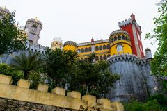 Free Sintra, Portugal/Europe; 15/04/19: Romanticist Palace Of Pena In Sintra, Portugal. One Of The Most Beautiful Palaces In Europe Stock Image - 163652781
