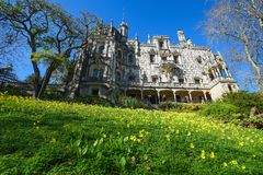 Quinta da Regaleira Palace and gardens of Unesco Heritage in historic center of Sintra, Portugal