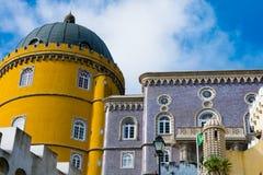 View of The Pena Palace Palacio Nacional da Pena. Sintra, Portugal. January 26, 2018. View of The Pena Palace Palacio Nacional da Pena stock photography
