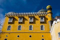 View of The Pena Palace Palacio Nacional da Pena. Sintra, Portugal. January 26, 2018. View of The Pena Palace Palacio Nacional da Pena stock photo