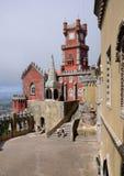 Sintra, Portugal - 2 juillet 2010 : Le palais de ressortissant de Pena Photos stock