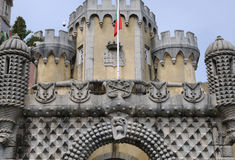 Sintra, Portugal - 2 juillet 2010 : Le palais de ressortissant de Pena Photo libre de droits