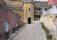 Sintra, Portugal - 2 juillet 2010 : Le palais de ressortissant de Pena Images libres de droits