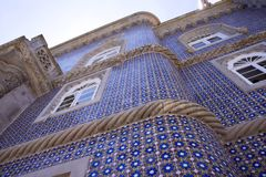 Sintra Portugal, Juli 25, 2018 Pena slott royaltyfri bild