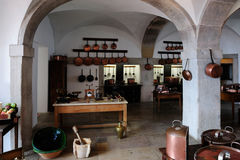 SINTRA, PORTUGAL -  the kitchen at the Pena National Palace, Sin Royalty Free Stock Photo