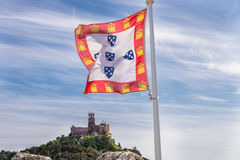 Sintra, Portugal at the Moorish Castle and Pena Palace. Stock Photography