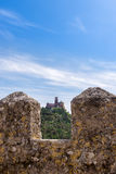 Sintra, Portugal at the Moorish Castle and Pena Palace. Stock Image