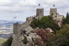 Sintra portugal with moorish castle Royalty Free Stock Photos