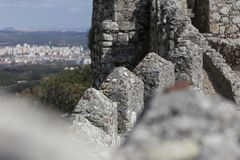 Sintra portugal with moorish castle Stock Images