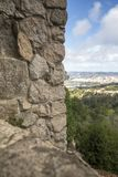 Sintra portugal with moorish castle. Sintra village portugal with moorish castle Stock Photo