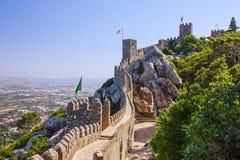 Sintra, Portugal. Moors Castle landscape Royalty Free Stock Image