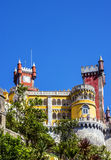 Sintra in Portugal. Pena National Palace Royalty Free Stock Photos