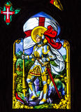 SINTRA, PORTUGAL: Saint George - vitrage window icon in Pena Pal Royalty Free Stock Images