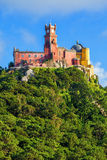 Panorama of Pena National Palace Stock Photography