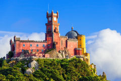 Panorama of Pena National Palace Royalty Free Stock Photos